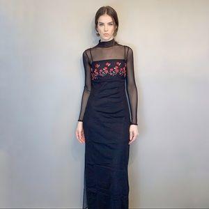 2000s Y2K mesh maxi dress